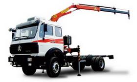 beiben truck mounted crane