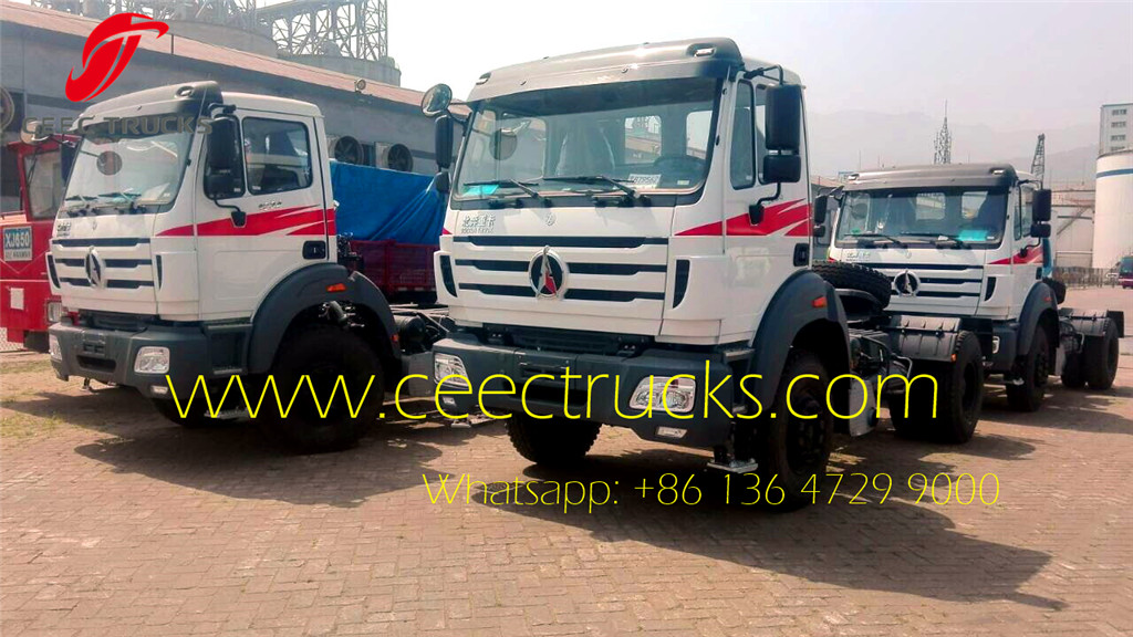 Beiben 4x2 tractor trucks shipping on Shanghai seaport