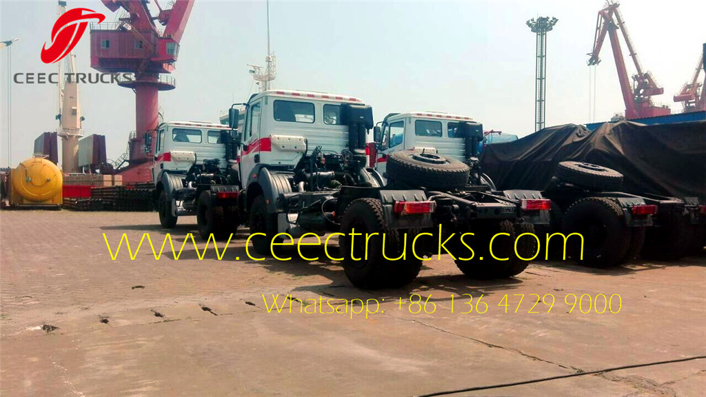 4units beiben 1927 tractors at shanghai seaport