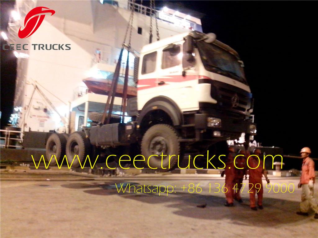 beiben 2538 tractor trucks shipping