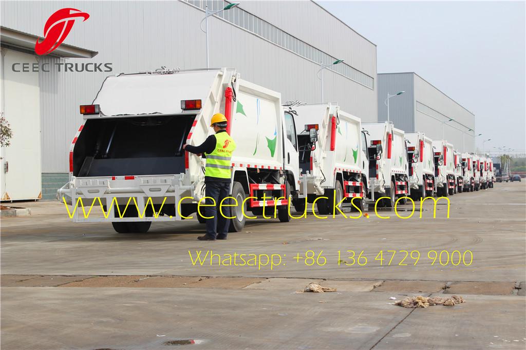 ISUZU 5cbm garbage compactor trucks