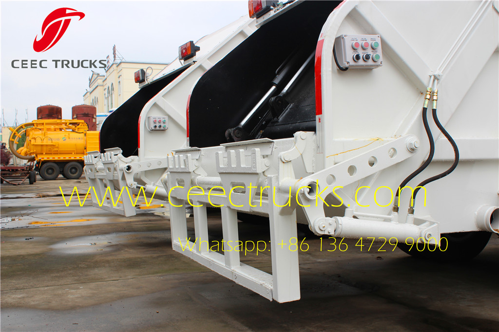 ISUZU 5cbm refuse compression truck tilting device