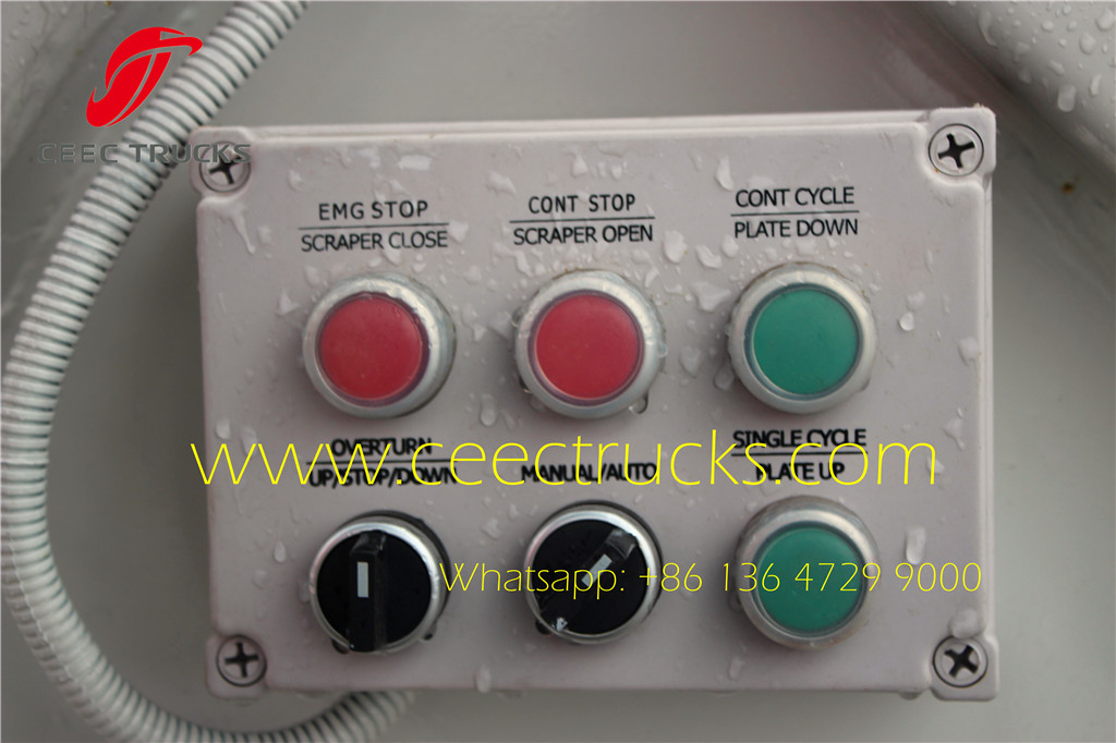 ISUZU 8cbm refuse comression trucks control box