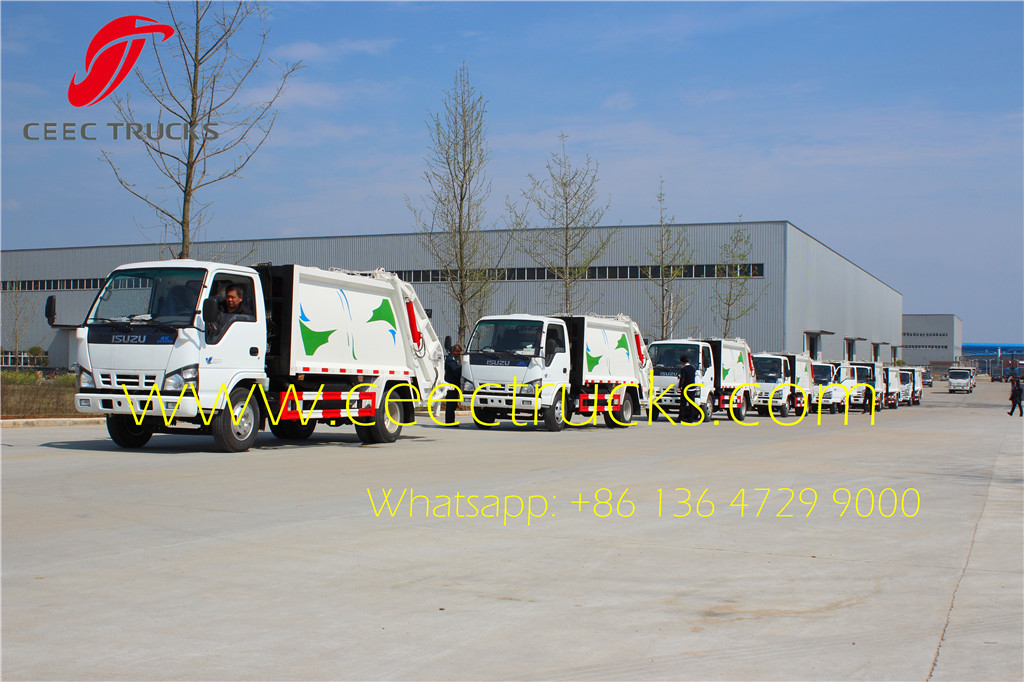 isuzu garbage compactor trucks for delivery