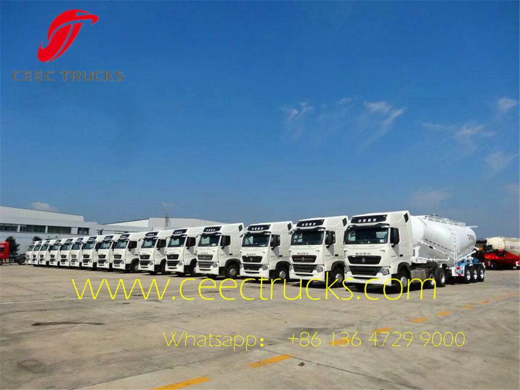 Bulk Cement Tanker Semitrailer in factory stock for quickly delivery