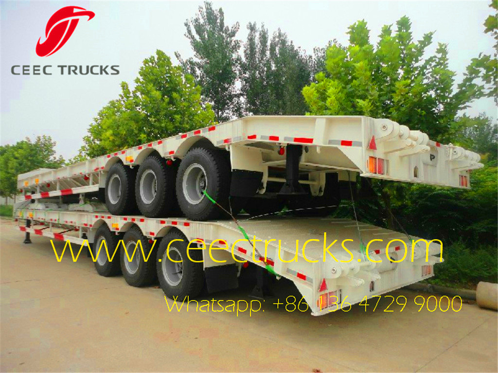 3 axle low bed semitrailer in factory