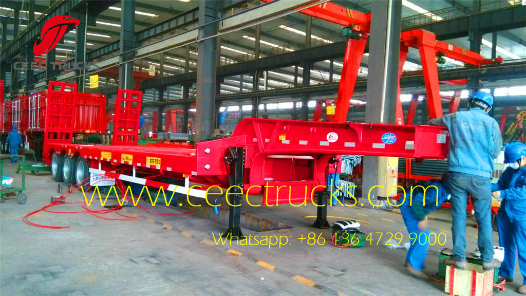 3 axle lowbed semitrailer in factory under production