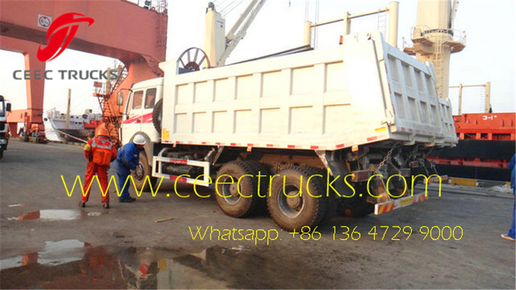 Beiben 10 wheeler dumper trucks for congo