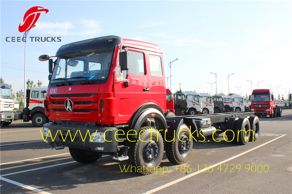 beiben 8*4 dumper truck chassis