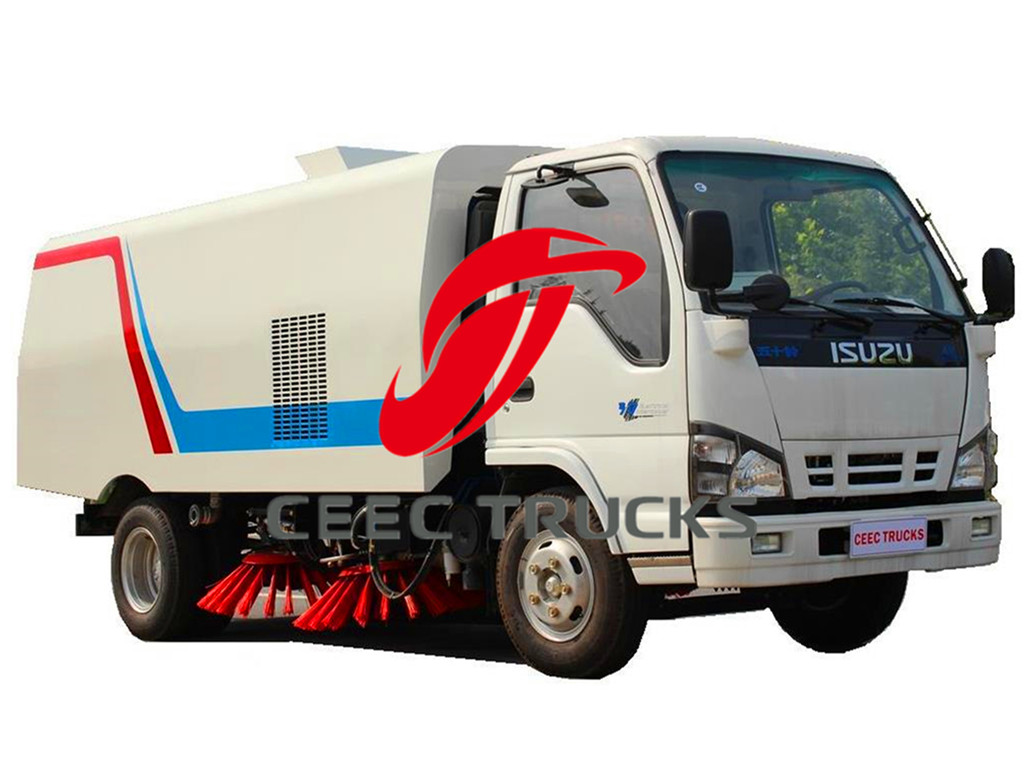 ISUZU 4 CBM road sweeper truck
