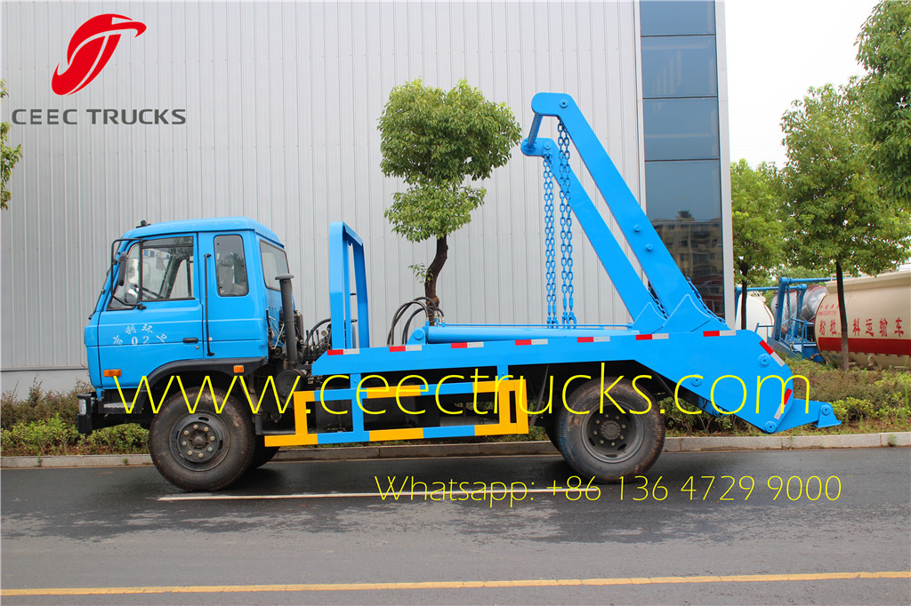 10 CBM swing arm garbage truck