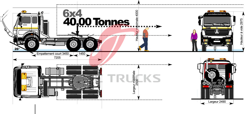 beiben 2542 prime mover drawing
