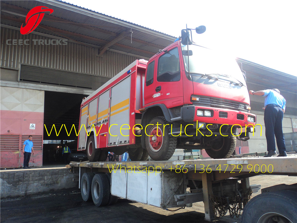 ISUZU firefighting truck combined transportation