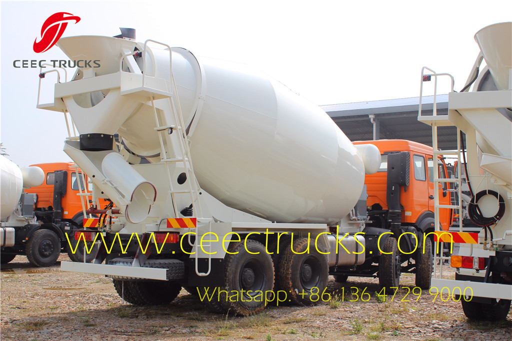 Beiben 14 CBM cement mixer truck for painting