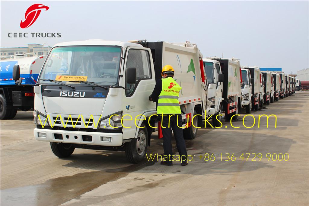 ISUZU garbage compactor trucks export Myanmar