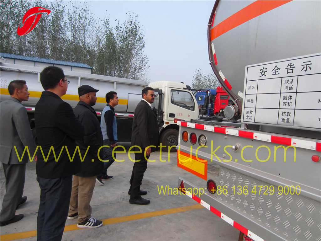 Saudi Arabia customer visiting our company about purchasing fuel tanker semitrailer