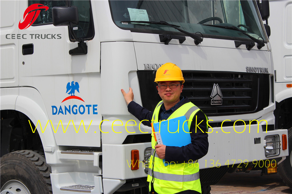 SINOTRUK HOWO mobile workshop trucks export Nigeria DANGOTE