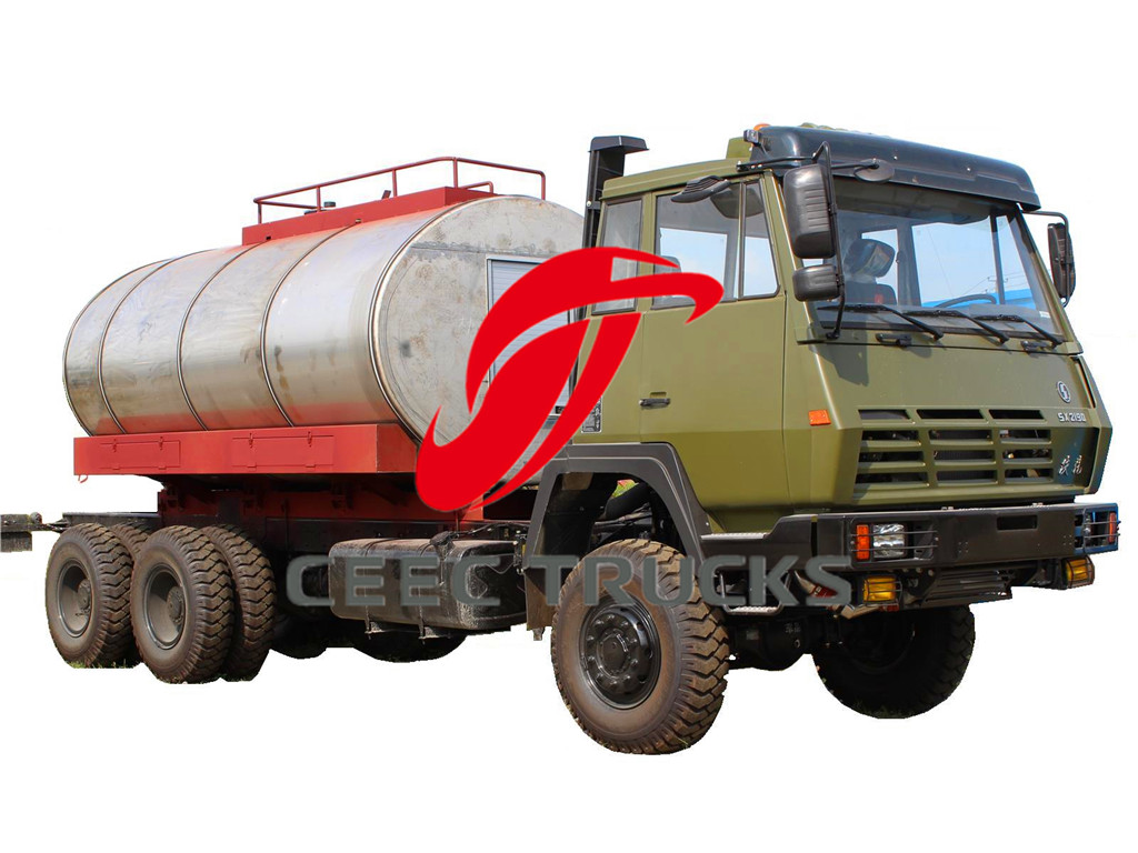 SHACMAN military fuel tanker trucks manufacturer