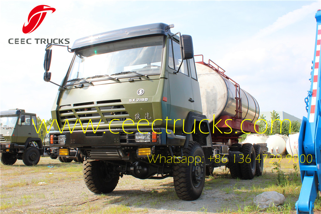 SHACMAN military fuel tanker trucks supplier