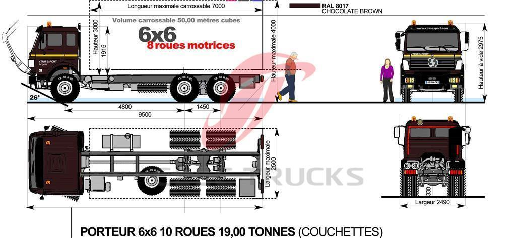 SHACMAN 6x6 truck chassis