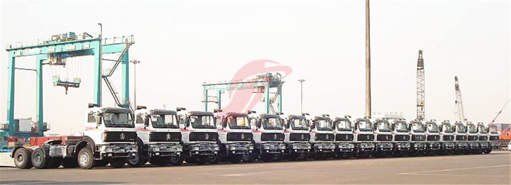 ceec provide beiben trucks for shipping