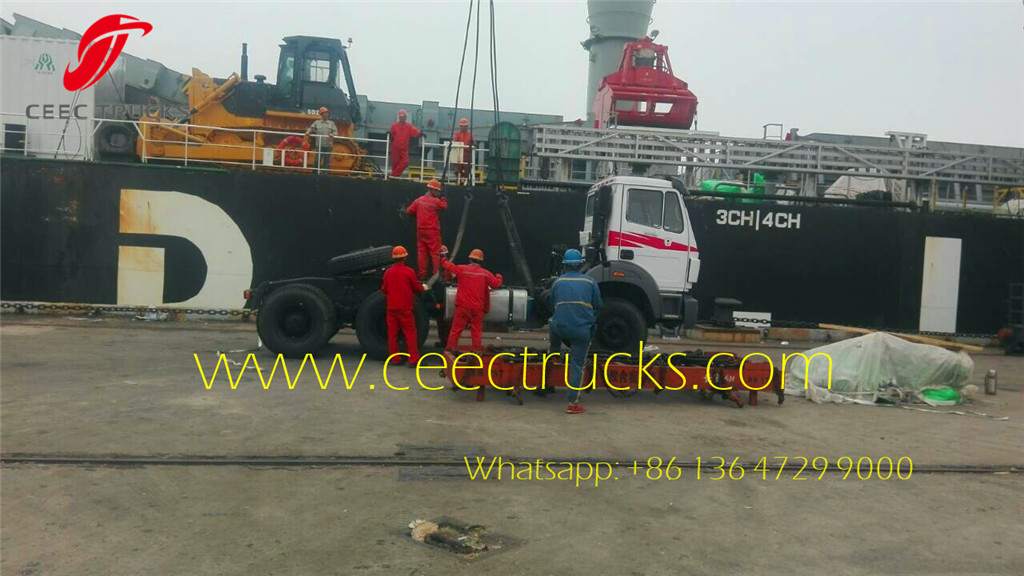 CEEC export Africa Beiben 2534 tractor head for shipping