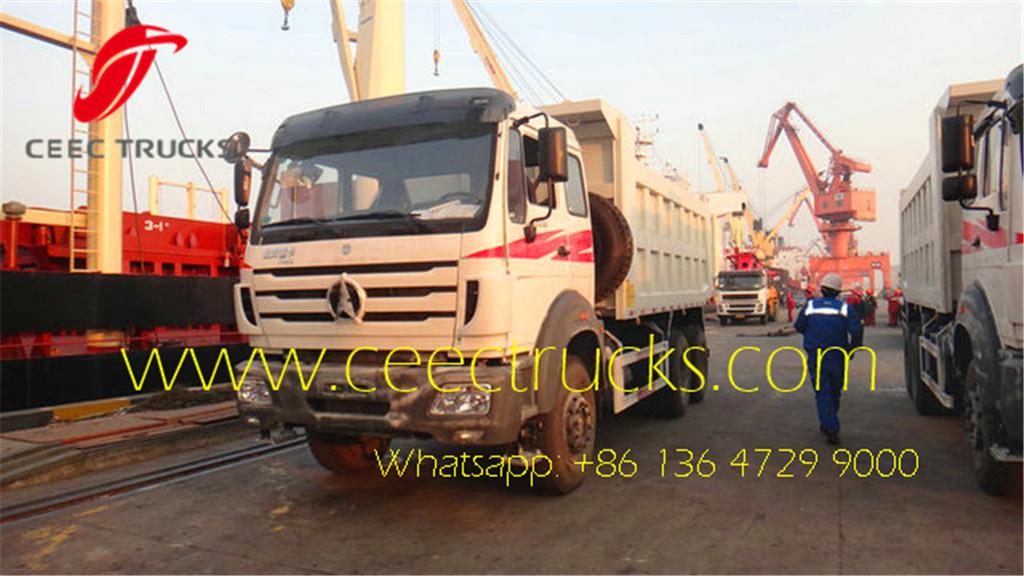 beiben 2629 dumper truck export to Congo