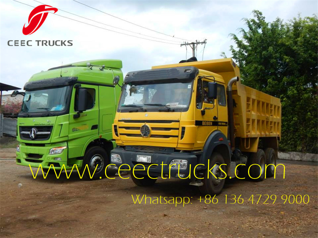 Beiben 2642 tipper trucks in Congo mining field
