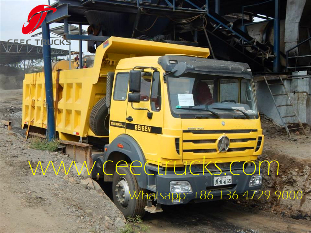 beiben 2642 tipper trucks export Africa