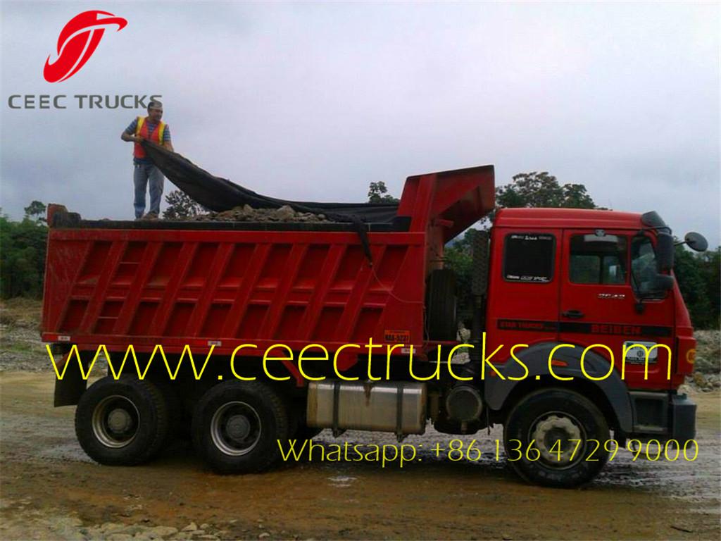 beiben 40 T dump truck export Ecuador