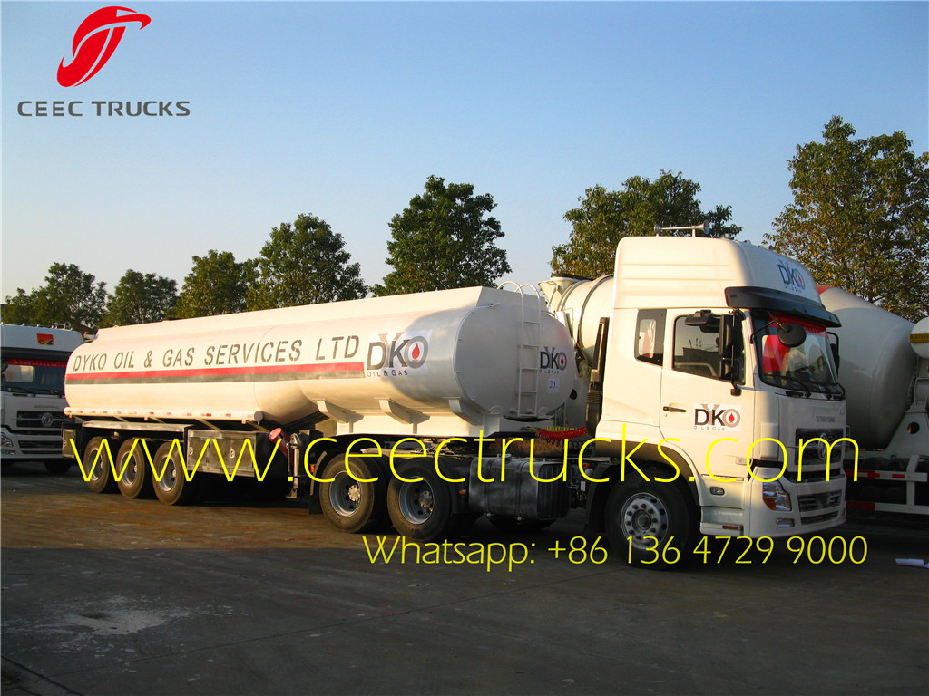 Nigeria 35 CBM oil tank trailer and Dongfeng 10 wheel tractor head wholesale
