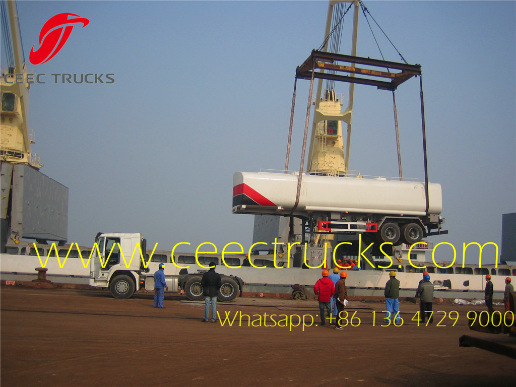 38CBM fuel tanker trailer for Cameroon
