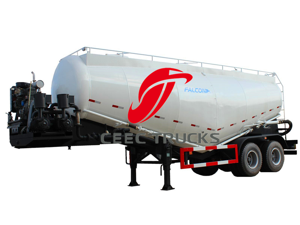 30CBM 2 axle bulk cement tanker trailer