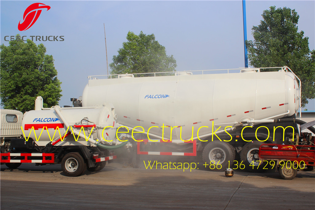 30CBM 2 axle bulk cement tanker trailer waxing