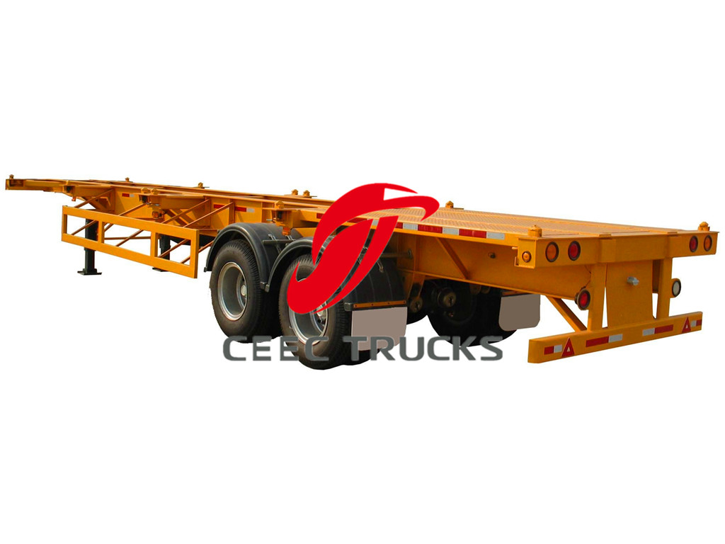 2 axle 40T bogie suspension trailers details
