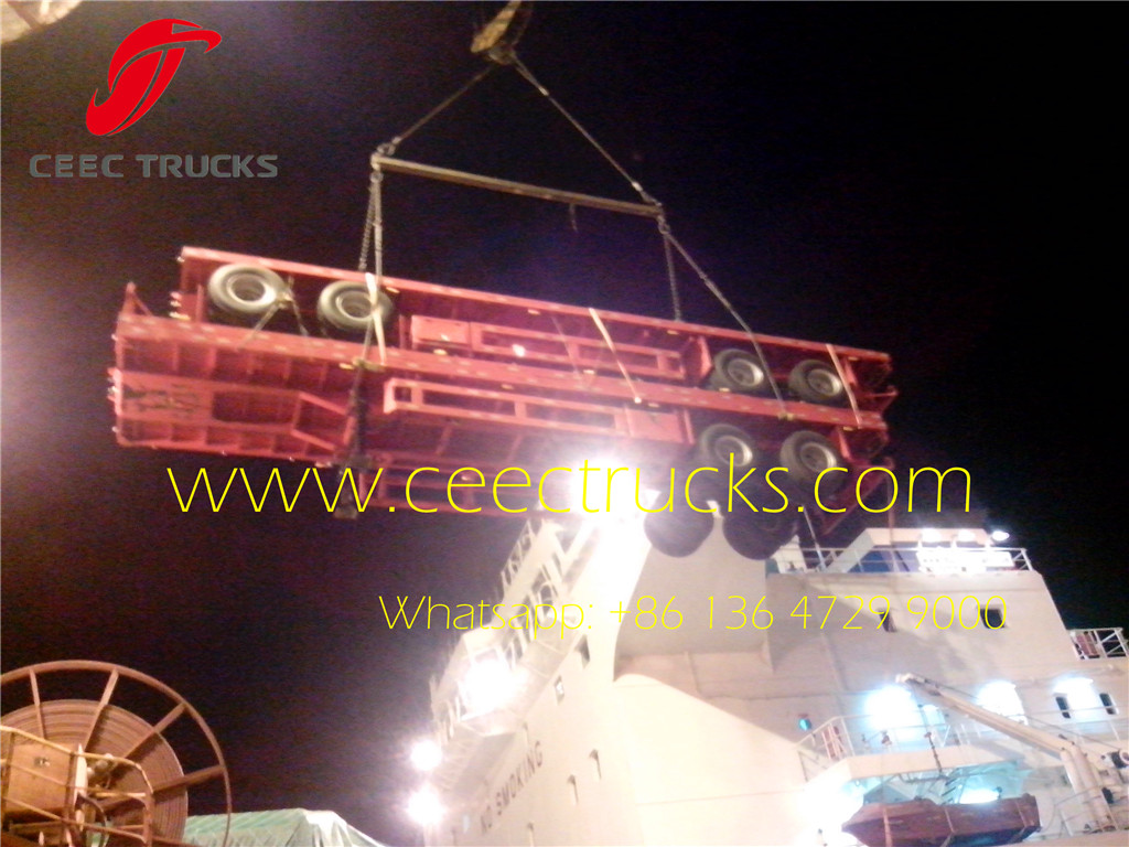 2 axle 40T bogie suspension trailers