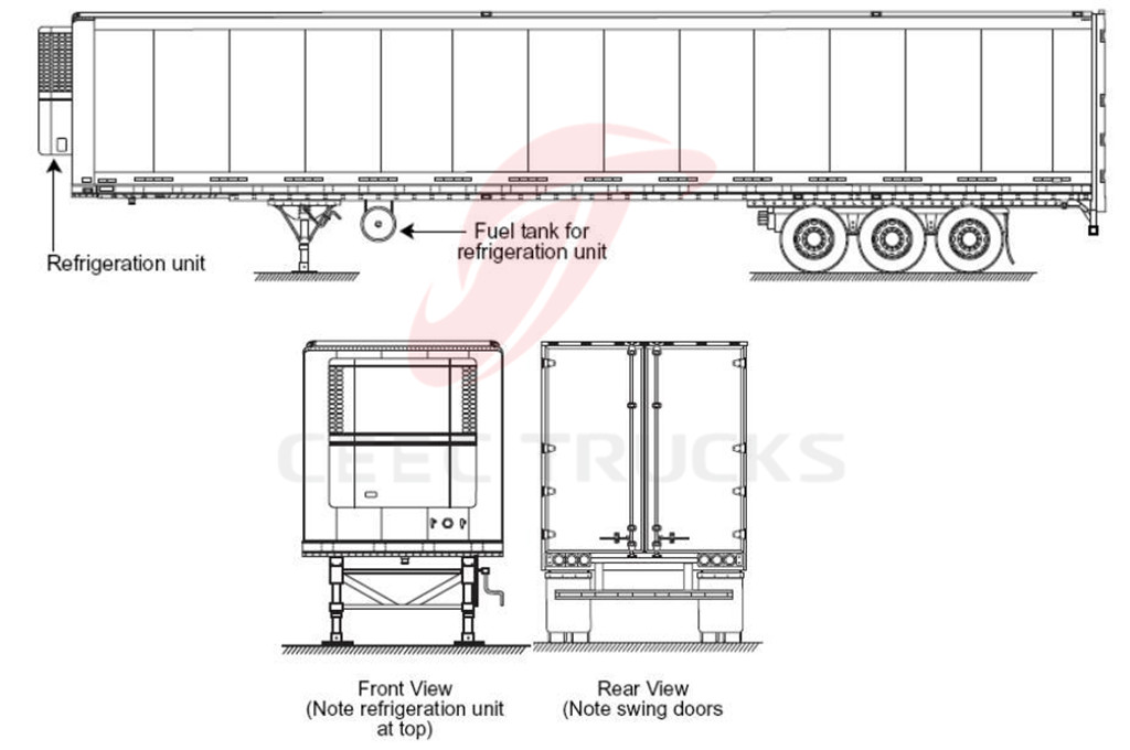 60CBM refrigerated semitrailer supply