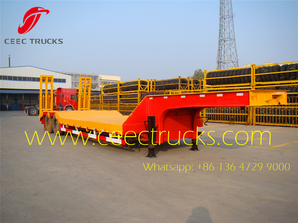 2-axle 30T lowbed semitrailers manufacturer supply