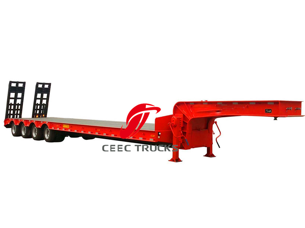 4 axle low bed semitrailers supplier
