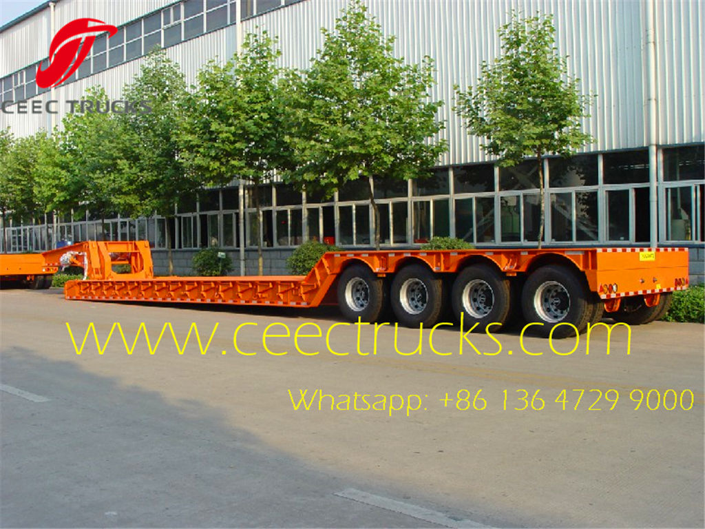 4 axle low bed semi trailers