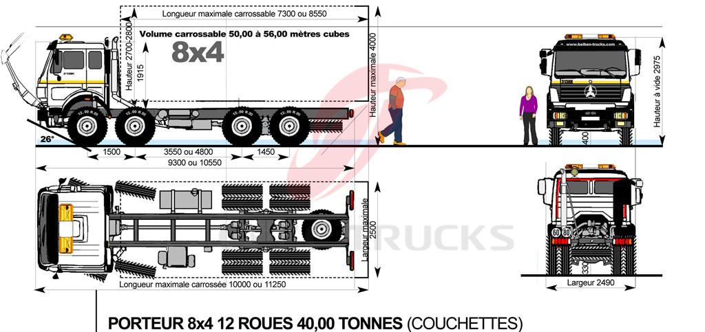 beiben 3134 mixer truck drawing