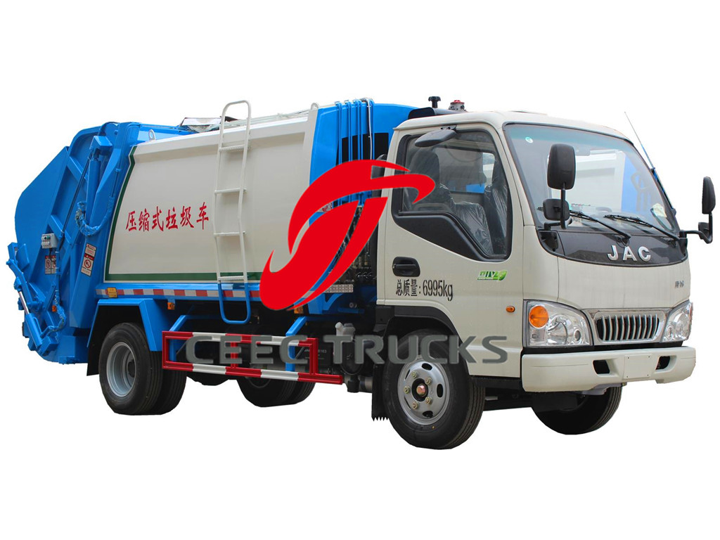 JAC 4 CBM garbage compresser trucks