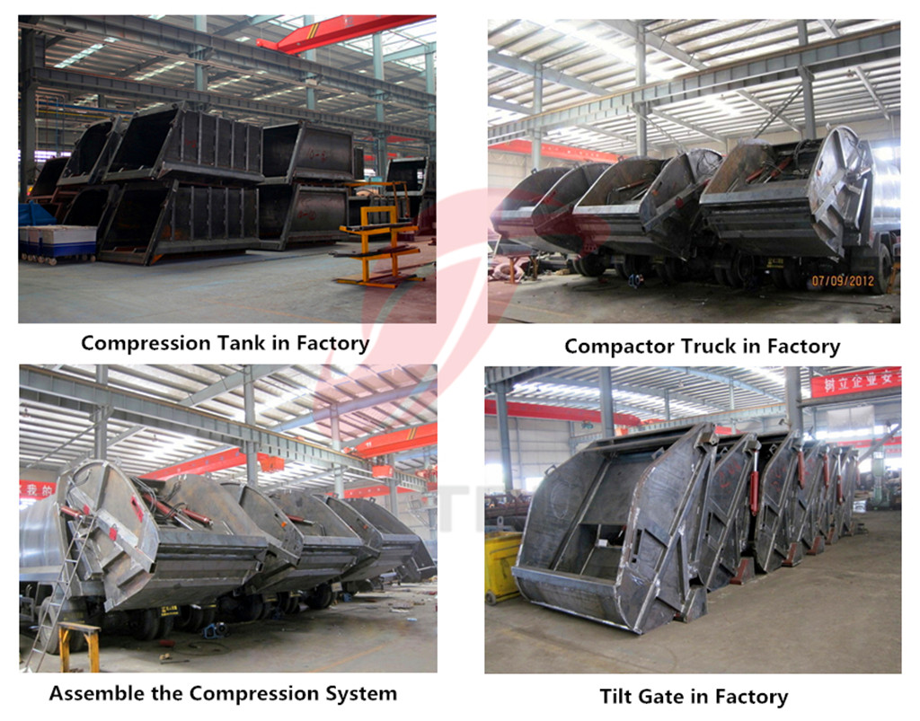 garbage compactor trucks factory