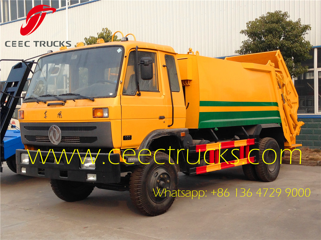 Dongfeng 9000 liters compactor garbage trucks
