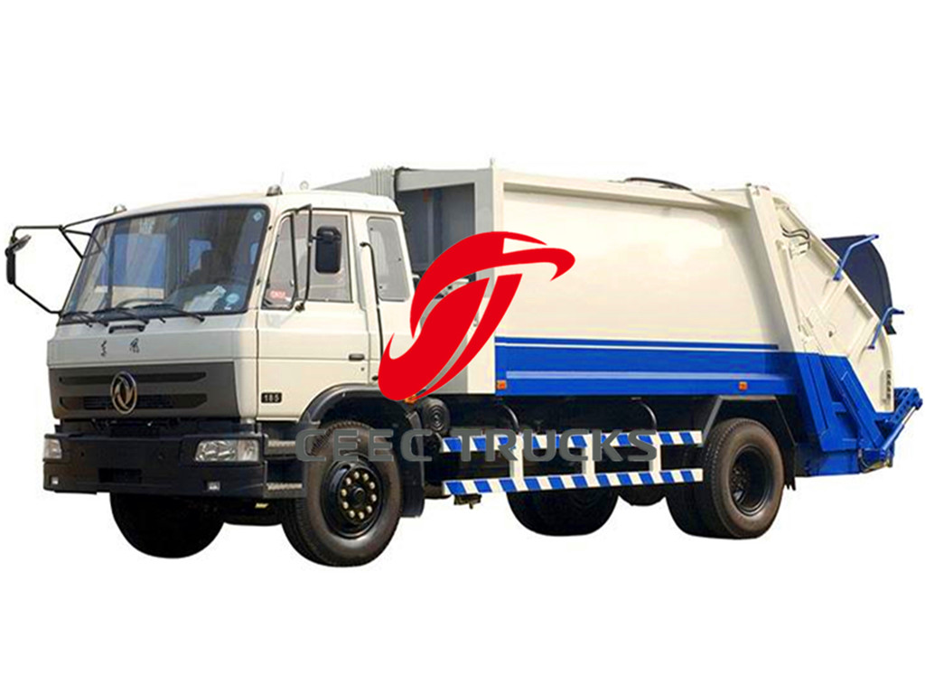 dongfeng 10000 liters garbage compactor trucks
