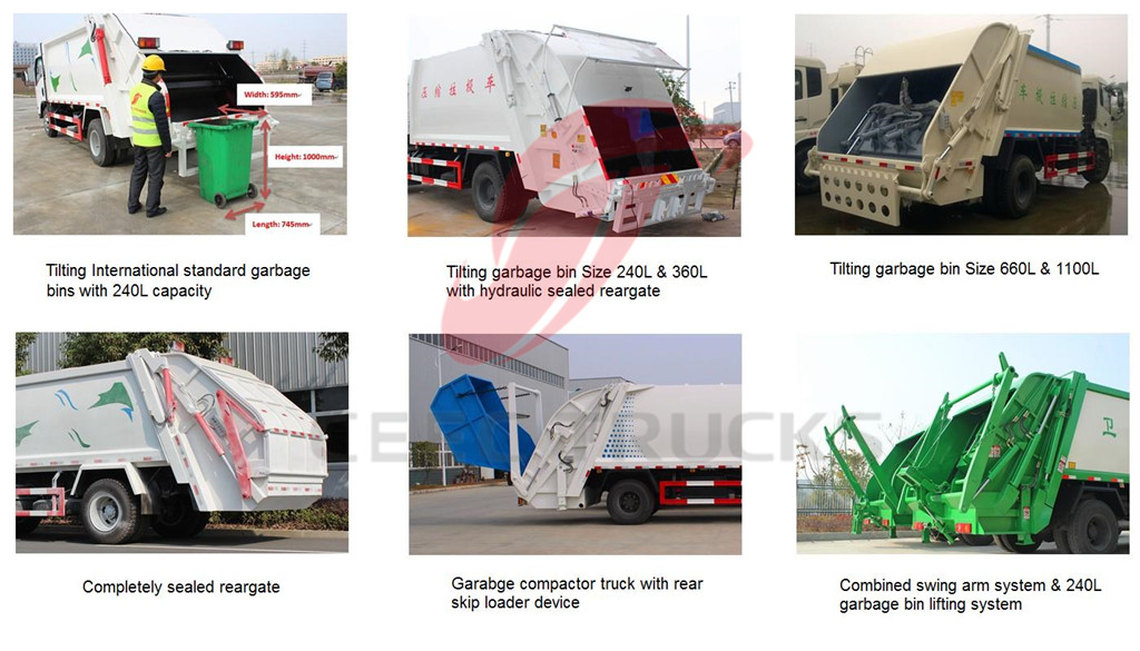 ceec produced compactor trucks rear loading system optional