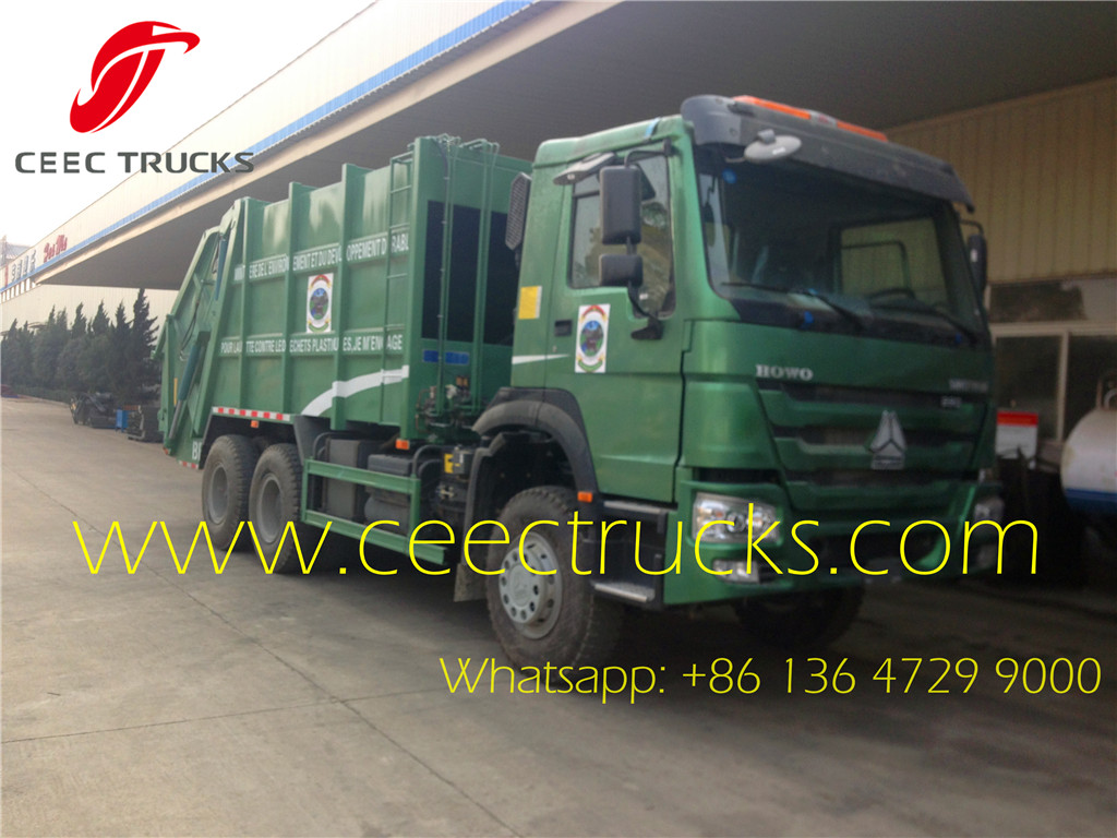 SINOTRUK 22 CBM refuse compactor trucks export model