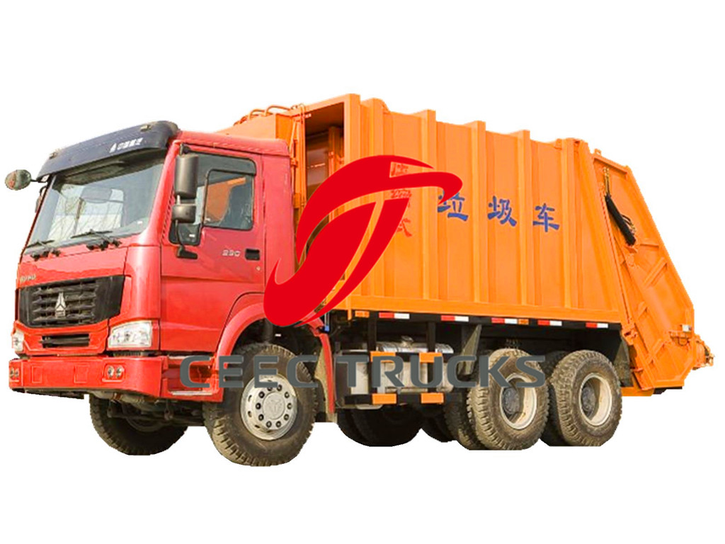 SINOTRUK 18 CBM trash truck compactor supply