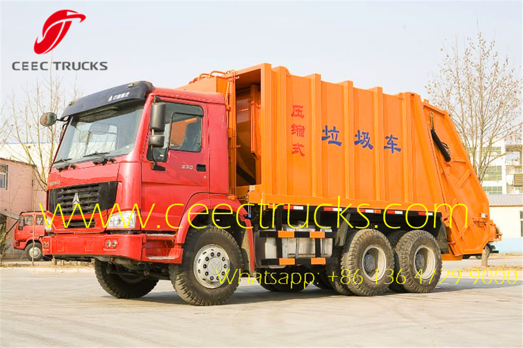 SINOTRUK 18 CBM trash truck compactors supplier