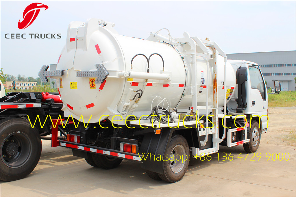 ISUZU 4-5 CBM kitchen garbage trucks price